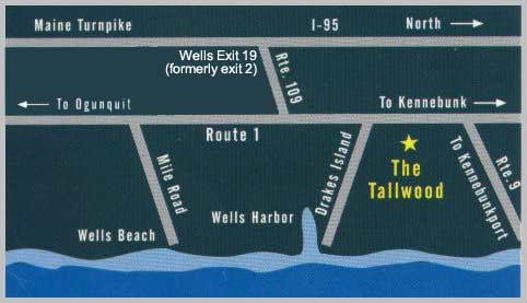 Map of The Tallwood Motel location.